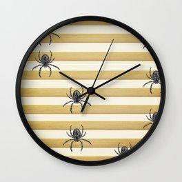 Descending Spiders Wall Clock
