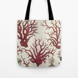 Naturalist Red Coral Tote Bag