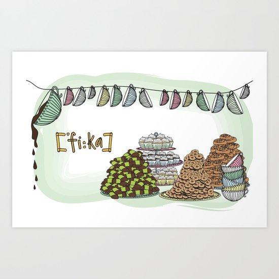 Fika  Art Print