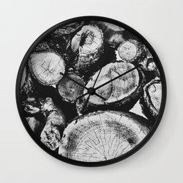 Cut wood II -Scandinavian art Wall Clock