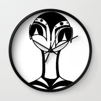 aliens Wall Clocks featuring Aliens? by SarinneG