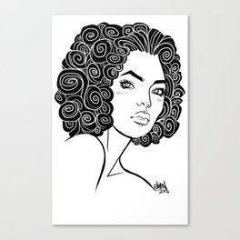 Curly Solonge Canvas Print