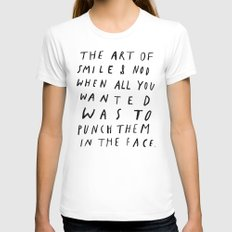 THE ART OF LARGE White Womens Fitted Tee