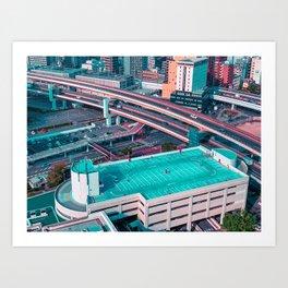 KobeRoofTop Art Print