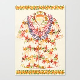 Plumeria Lei Shirt Canvas Print