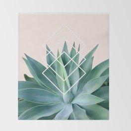 Agave geometrics - peach Throw Blanket