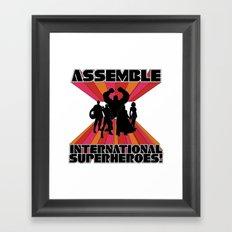 International Superheroes Framed Art Print