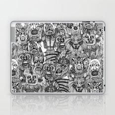 gargoyles black white Laptop & iPad Skin