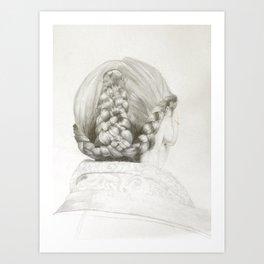 Women's hair study #1 (Taralis Automne-Hiver 2011) Art Print