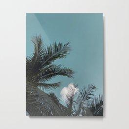 Teal Skies Metal Print