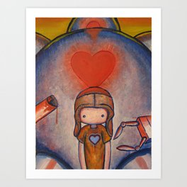 The Robot Who Stole My Heart Art Print