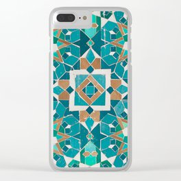 Zellige - Morocco - Casablanca II Clear iPhone Case