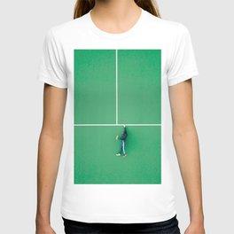 Tennis court green T-shirt