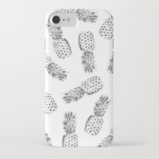 Pineapples Black and White iPhone 7 Slim Case