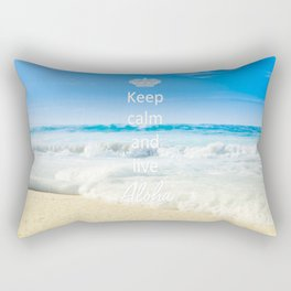 keep calm and live Aloha Rectangular Pillow
