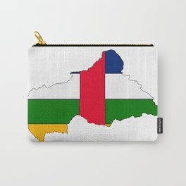 Central African Republic Map with Flag Carry-All Pouch