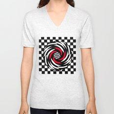 Checkered Meditation Unisex V-Neck