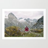 mint Art Prints featuring Mint Hut by Kevin Russ