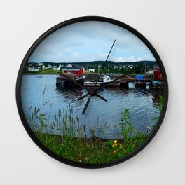Fisherman's Wharf in Cape Breton Wall Clock