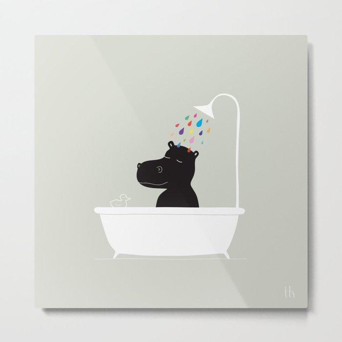 The Happy Shower Metal Print