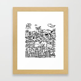 I want a doodle fly in Hong Kong Framed Art Print