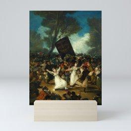 "Francisco Goya ""The Burial of the Sardine (El entierro de la sardina)"" Mini Art Print"