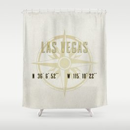 Las Vegas Nevada - Vintage Map and Location Shower Curtain