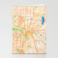 dallas Stationery Cards featuring Dallas, Texas by Emily Day