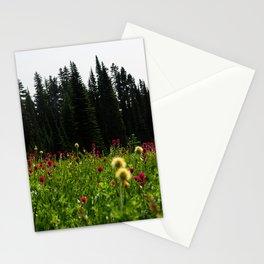 Mount Rainier Wildflower Adventure III - Pacific Northwest Mountain Forest Wanderlust Stationery Cards