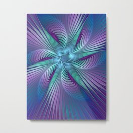 Colorful Grace, Abstract Fractal Art Metal Print