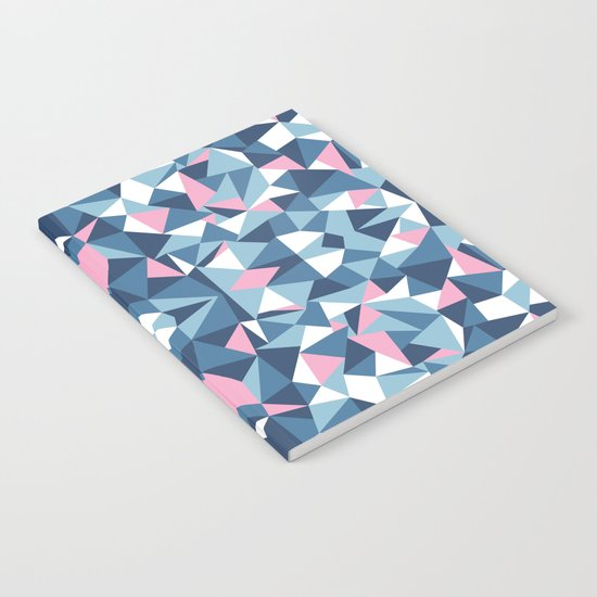 Abstract Collide Blue and Pink Notebook