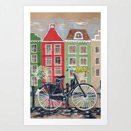 Pedals and Petals Dutch Bike Art Print
