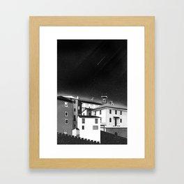 Castles at Night (B&W) Framed Art Print