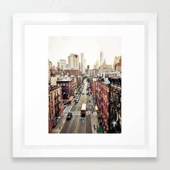 New York City Framed Art Print by orbonalija | Society6