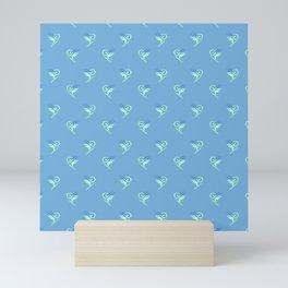 minimalistic watercolor scribble seamless pattern c14 Mini Art Print