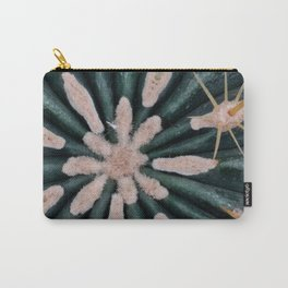 Cactus Plant Close-up Photogrpahy Round Photo Carry-All Pouch