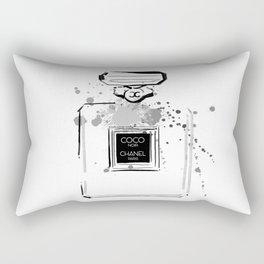Black Perfume Rectangular Pillow