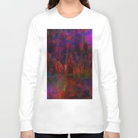 moulin rouge Long Sleeve T-shirts featuring Rouge city by Joe Ganech