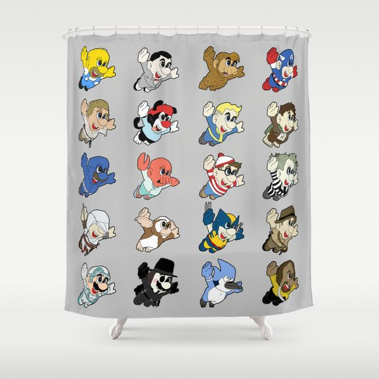 Super: Round 2 Shower Curtain