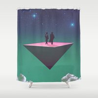 philosophy Shower Curtains featuring 'Dream of Philosophy'  by Thom Easton