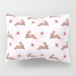 Easter bunny watercolor pattern Pillow Sham