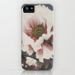 Digital oil painting of a peony flower iPhone Case