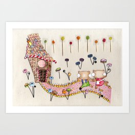 Hansel & Gretel - A House Made of Bread and Cake Art Print