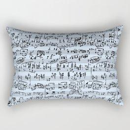 Hand Written Sheet Music // Light Blue Rectangular Pillow