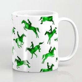 Watercolor Showjumping Horses (Green) Coffee Mug