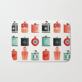 Flask Collection – Red & Turquoise Palette Bath Mat