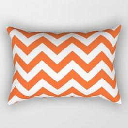 Chevron Print in Orange Rectangular Pillow