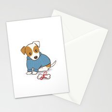 Jack Russell Terrier Wearing Sweater Illustration Stationery Cards
