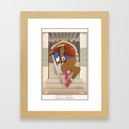 Queen of Swords - Azealia Banks Framed Art Print