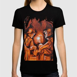 Cigarettes may kill you (orange miners on explosives) T-shirt
